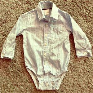 🌸 Carter's baby boy button up onesie 12 months